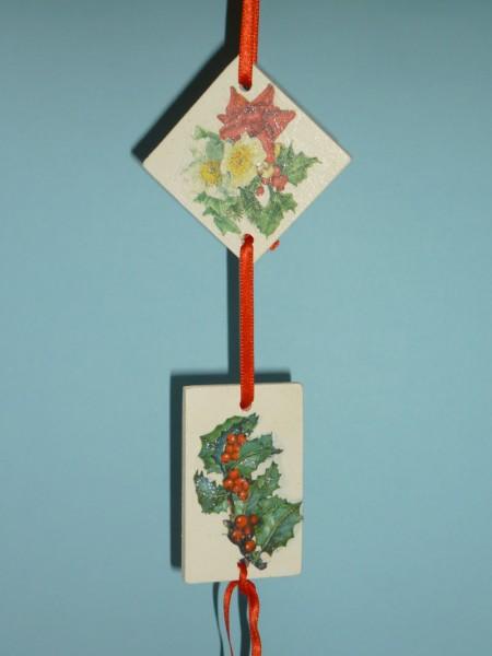 Decora e unisci decorazioni sospese in legno riciclato - Decorazioni sospese ...